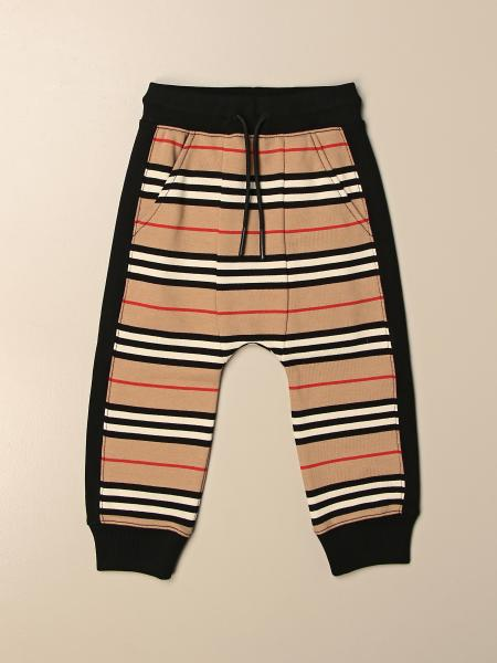 Burberry striped cotton jogging trousers
