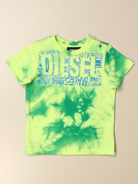 Diesel t-shirt in tie dye cotton with logo