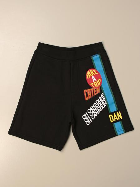 Dsquared2 Junior jogging shorts in cotton with logo