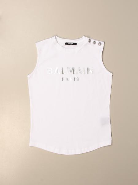 Balmain cotton tank top with logo