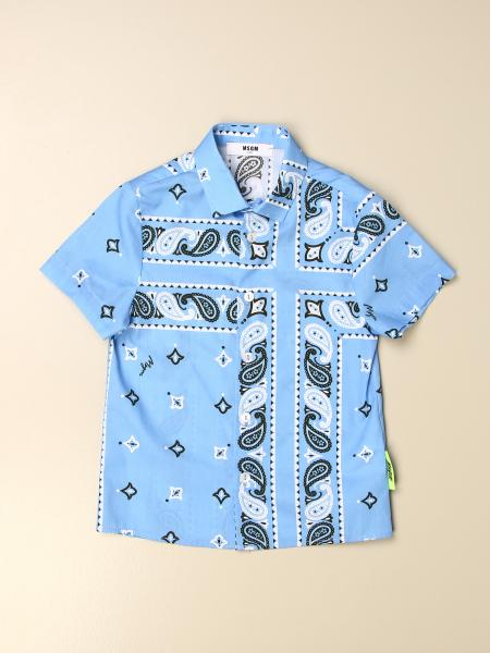 Msgm Kids shirt with bandana print