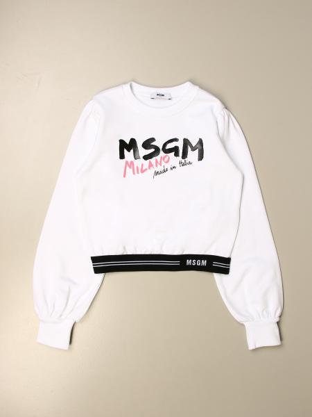 Msgm Kids crewneck sweatshirt in cotton