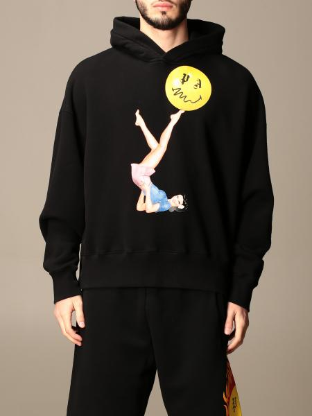 Palm Angels: Palm Angels hooded sweatshirt in cotton with print