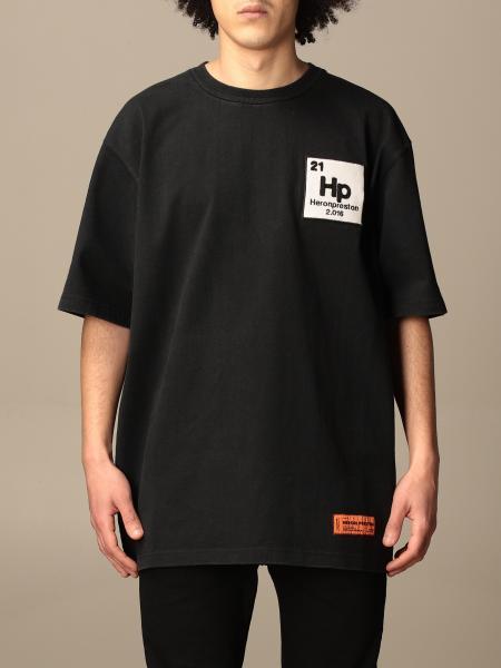 T-shirt Heron Preston in cotone con stampa posteriore