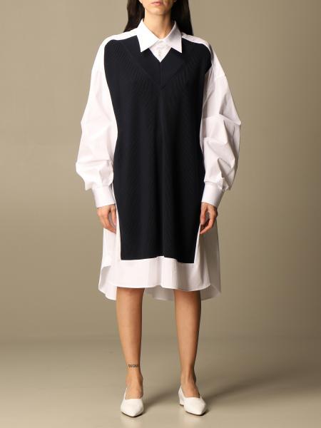 Maison Margiela: Maison Margiela shirt dress with faux pullover