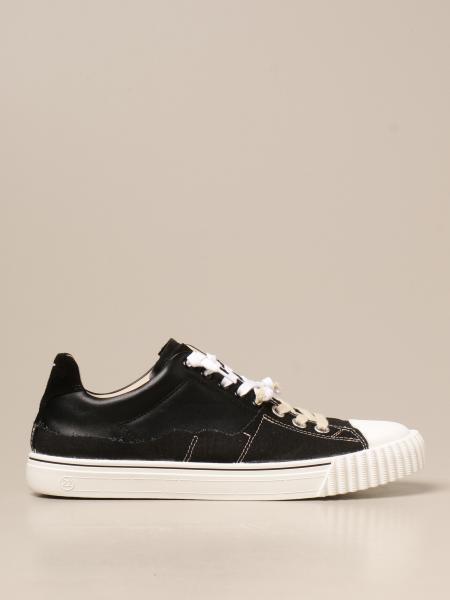 Maison Margiela uomo: Sneakers Panelled Maison Margiela in tela e pelle