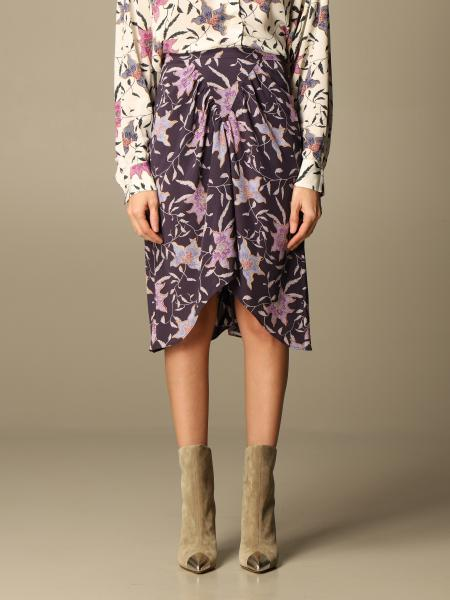 Isabel Marant Etoile: Isabel Marant Etoile skirt in viscose with floral pattern