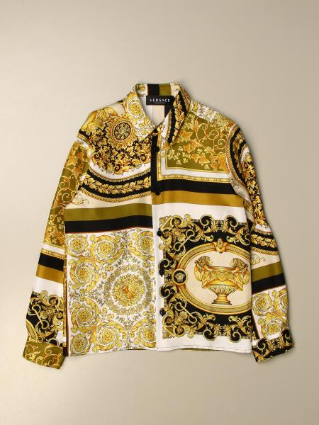 Versace Young shirt in silk with baroque print