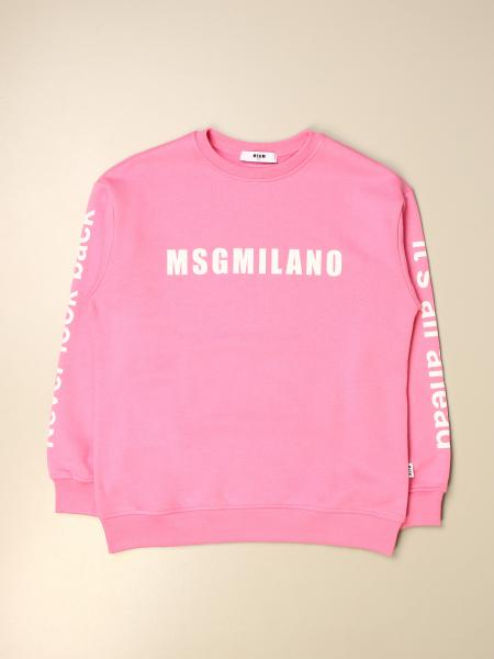 Msgm Kids crewneck sweatshirt with Milano logo