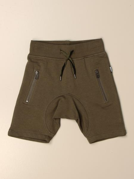 Molo jogging bermuda shorts in cotton with zip
