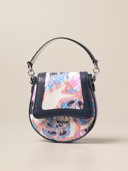 Emilio Pucci: Emilio Pucci bag in leather and laminated multicolor lace