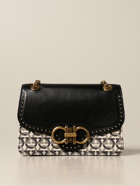 Salvatore Ferragamo women: Salvatore Ferragamo Quilting Gancini bag in leather and fabric