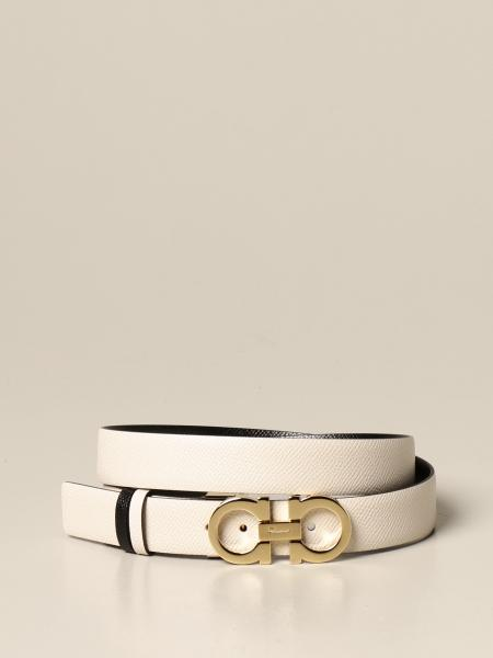 Salvatore Ferragamo Gancini belt in reversible leather