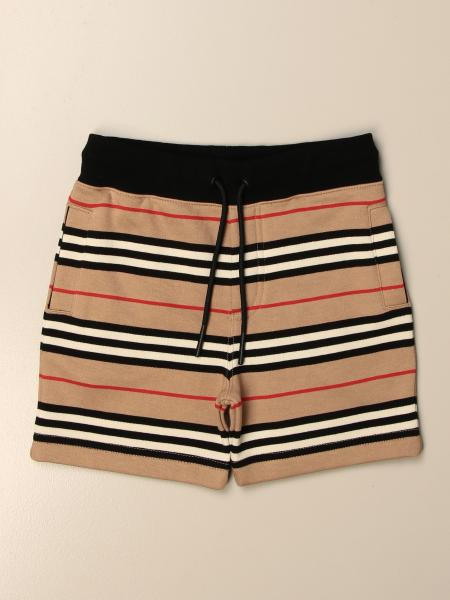 Pantaloncino Burberry in cotone a righe vintage