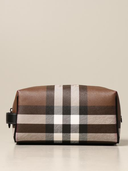 Beauty case Burberry in E-canvas check