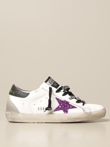 Sneakers Superstar Golden Goose in pelle