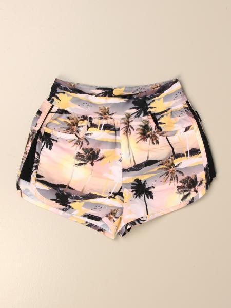 Shorts Molo in cotone a fantasia di palme