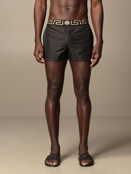 Versace boxer costume in nylon with Greek detail