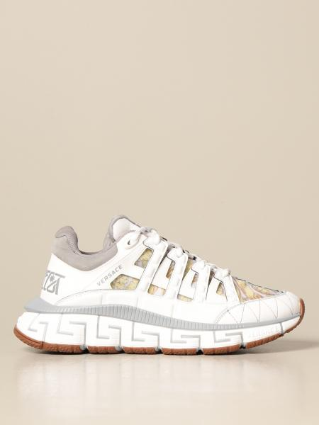 Versace: Trigreca Versace sneakers in fabric and leather