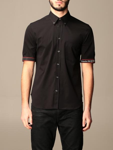 Alexander McQueen shirt with logoed bands