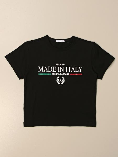 T-shirt Dolce & Gabbana in cotone con stampa Made in Italy
