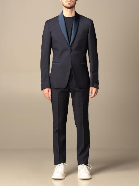 Alessandro Dell'acqua single-breasted suit in virgin wool