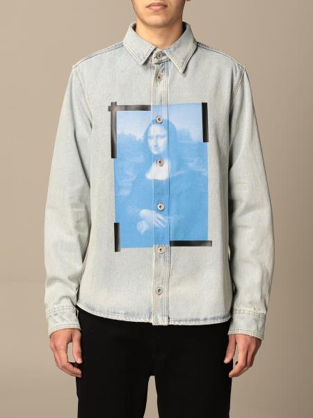Off White denim shirt with front print