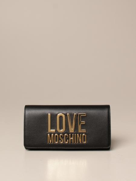 Portafoglio Love Moschino in pelle sintetica con big logo