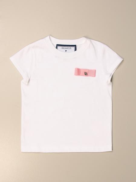 Simonetta: T-shirt Simonetta in cotone con fiocco
