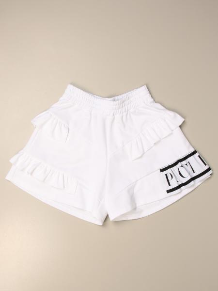 Emilio Pucci shorts with ruffles and logo