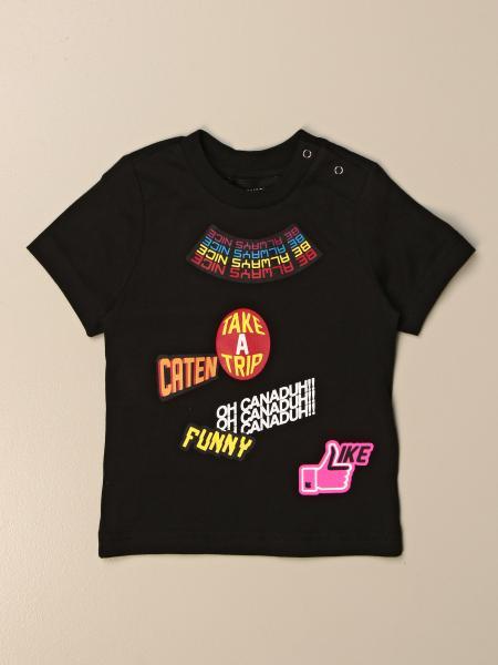 T-shirt Dsquared2 Junior in cotone con multi stampe