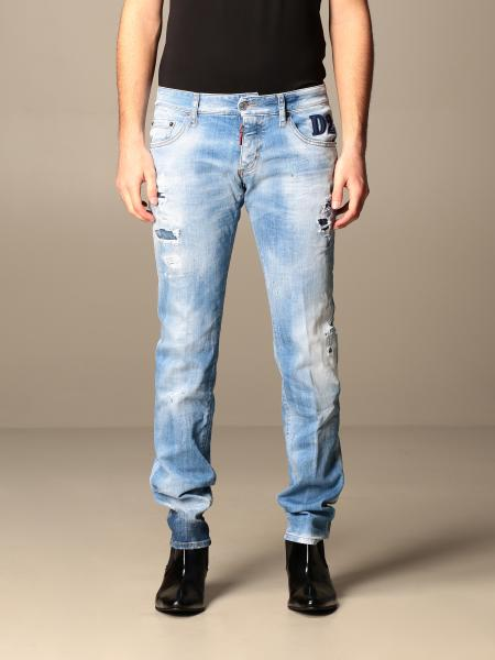 Dsquared2 5-pocket jeans in used denim with tears