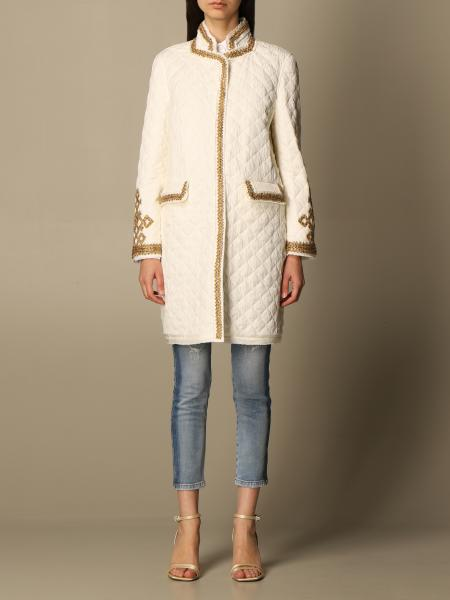 Ermanno Scervino: Ermanno Scervino quilted jacket with lurex embroidery