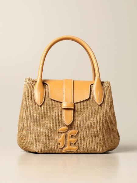 Ermanno Scervino: Ermanno Scervino handbag in woven raffia and leather