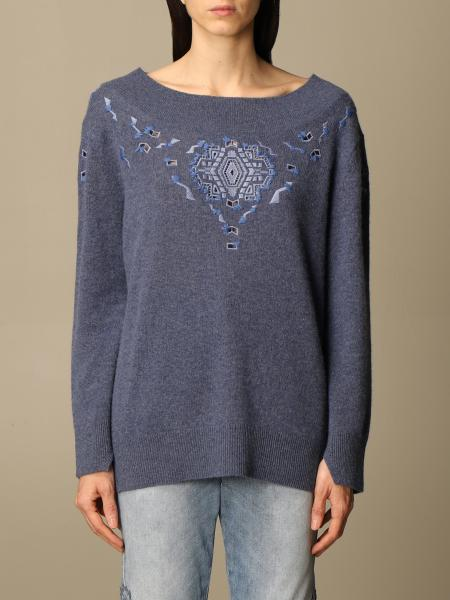 Ermanno Scervino: Ermanno Scervino cashmere sweater with embroidery