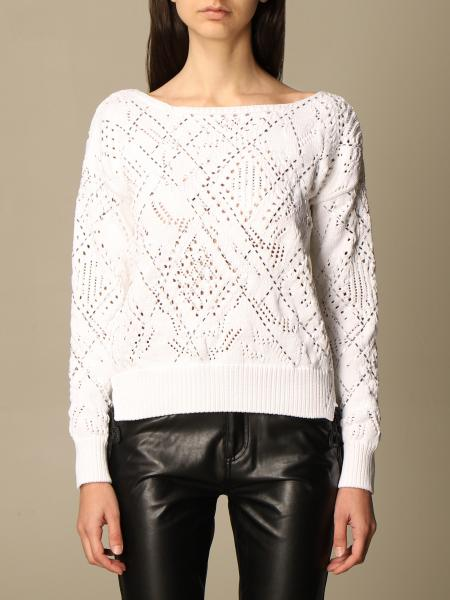 Ermanno Scervino: Ermanno Scervino cotton sweater with all over stitching