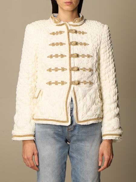Ermanno Scervino: Ermanno Scervino military style jacket with lurex embroidery