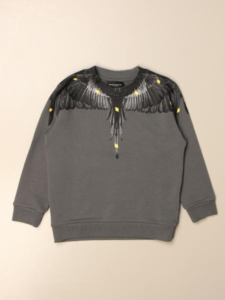 Felpa a girocollo Marcelo Burlon in cotone con piume di uccelli
