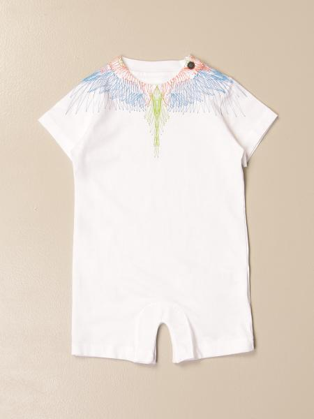 Marcelo Burlon short romper with bird feathers print
