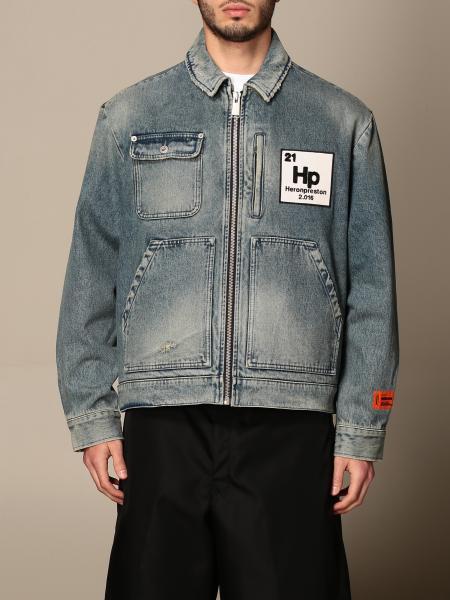 Giacca di jeans Heron Preston con logo