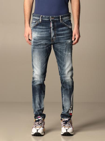 Jeans Dsquared2 in denim used con logo