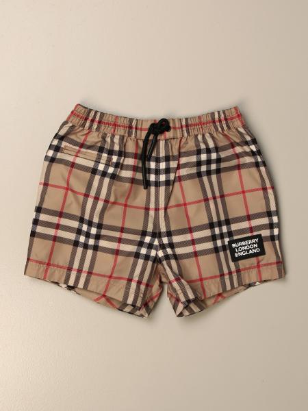 Burberry 格纹尼龙四角短裤