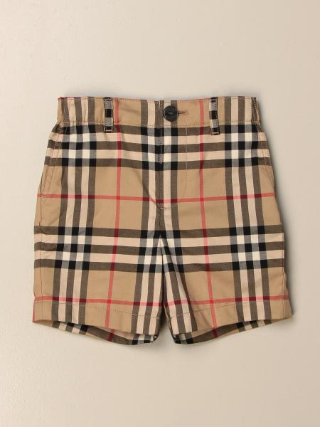 Burberry shorts in check cotton