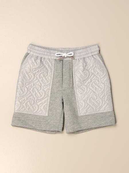 Pantaloncino jogging Burberry in cotone con monogramma TB