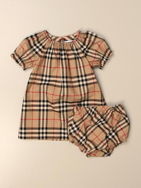 Burberry check cotton dress with culotte