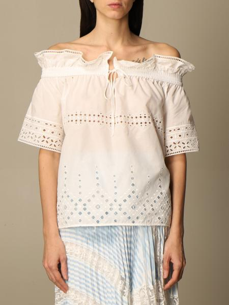 Ermanno Scervino: Ermanno Scervino top with embroidery and rouches