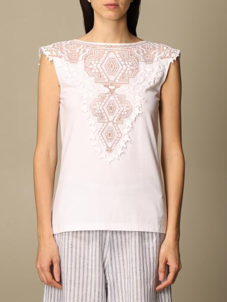 Ermanno Scervino: Ermanno Scervino cotton top with embroidery