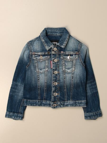 Dsquared2 Junior denim jacket in used denim