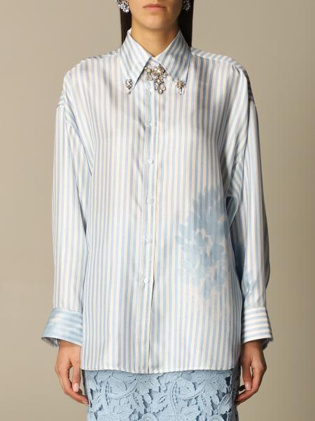 Ermanno Scervino: Ermanno Scervino shirt in striped silk