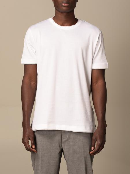 Eleventy cotton T-shirt with contrasting details